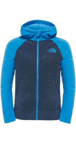 The North Face Glacier Full Zip Hoodie Boys Cosmic Blue Heather/Jake Blue